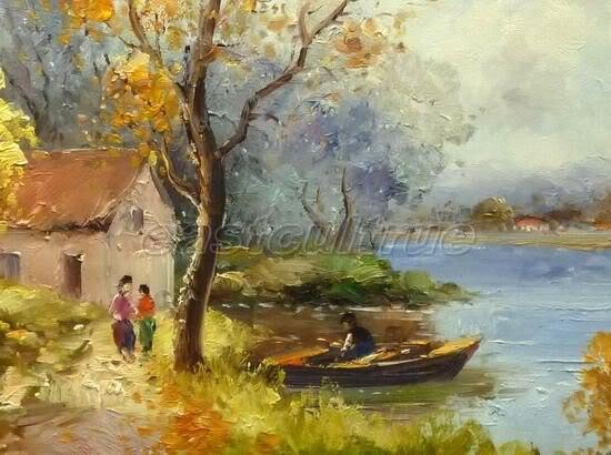 handmade paese dipinti ad olio paesaggio in handmade paese dipinti ...