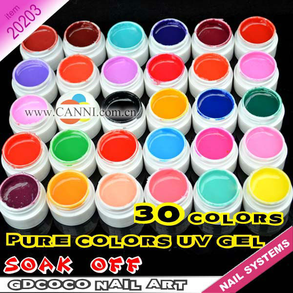 Aliexpress 20203 2017 New Nail Art Professional Canni 30 Color Pure Uv Gel Kit Paint From Reliable