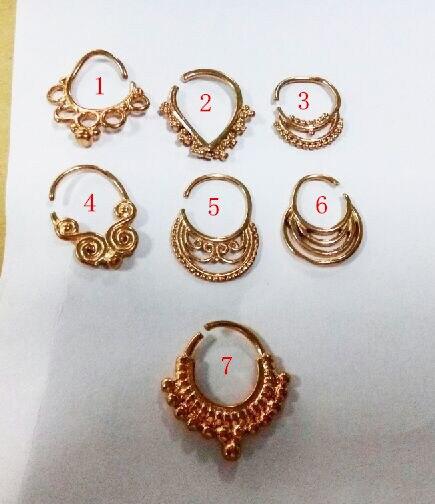 New arrival 16Gauge rose gold septum piercing nose ring septum