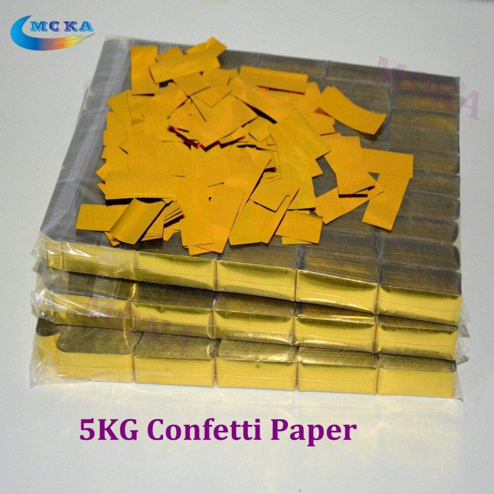 5KG/LOT Hi-Quality confetti paper Gold color confetti paper accessories for Party Wedding Event