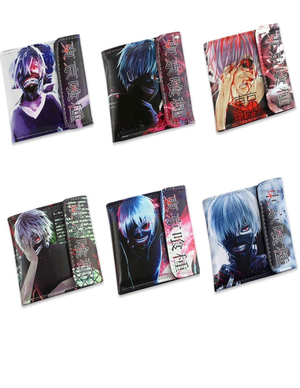 PU short wallet  Anime Tokyo Ghoul Kaneki Ken Kirishima Touka Kirishima Ayato цена 2016