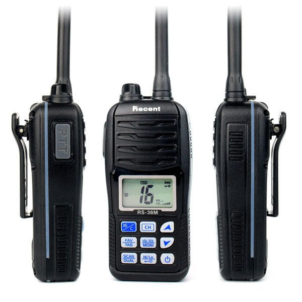 imágenes para Walkie Talkies de Radio VHF Marino Float'n RS-36M Impermeable IP67 interphone Transceptor transmisor de Mano de emergencia