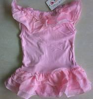 бесплатная доставка цельный летнее платье девочки платья комбинезон платье розовый ползунки размер 80 90 100