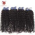 """4 pçs/lote grau 6A Brasileiro virgem cabelo weave 100% virgem onda espiral extensões de cabelo humano 12-30 """"natural preto frete grátis"""