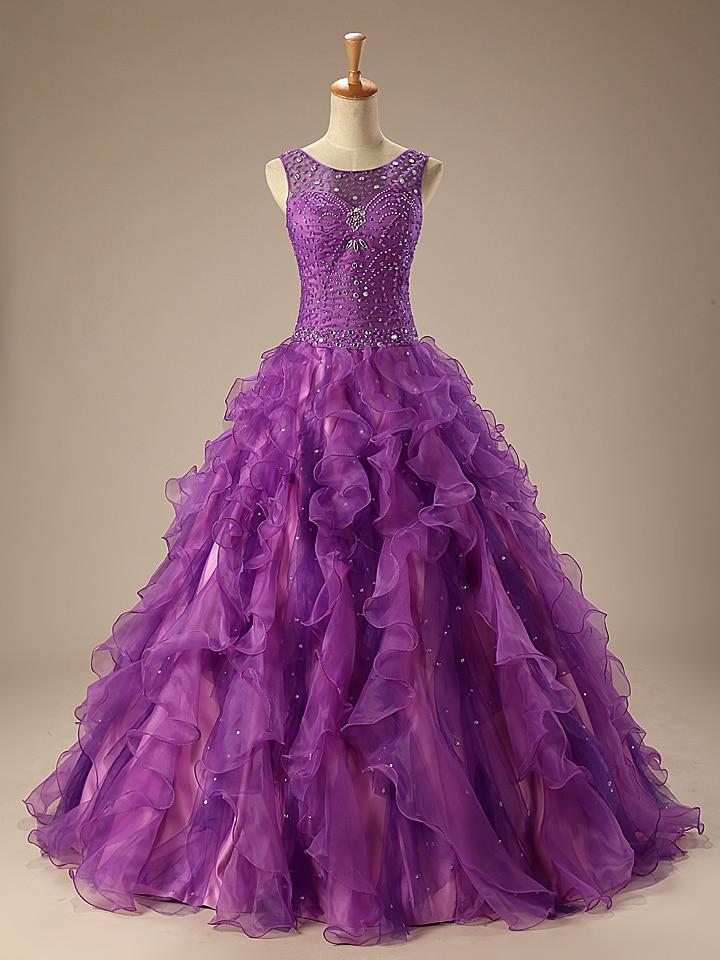 Photos réelles robe De bal pourpre grande taille robe De bal 2019 Vestido De Festa livraison gratuite pas cher