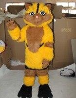 מצחיק חתול צהוב חתול קמע תלבושות למבוגרים תחפושת