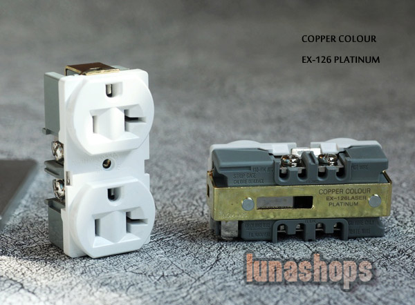Copper Colour CC EX126-PLATINUM phosphor bronze+Platinum Plated Power Socket 20A