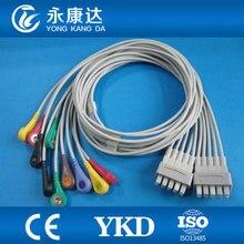 900112-002(IEC)GE-Marquette 10-lead EKG leadwires,IEC,Snap Ending