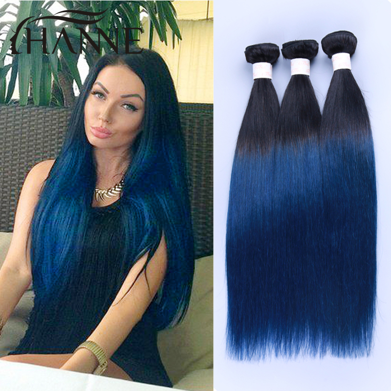 Ombre hair extensions malaysian straight hair weave 3pcs 1bblue ombre hair extensions malaysian straight hair weave 3pcs 1bblue or burgundy ombre human hair weave bundles blue hair in hair weaves from hair extensions pmusecretfo Images