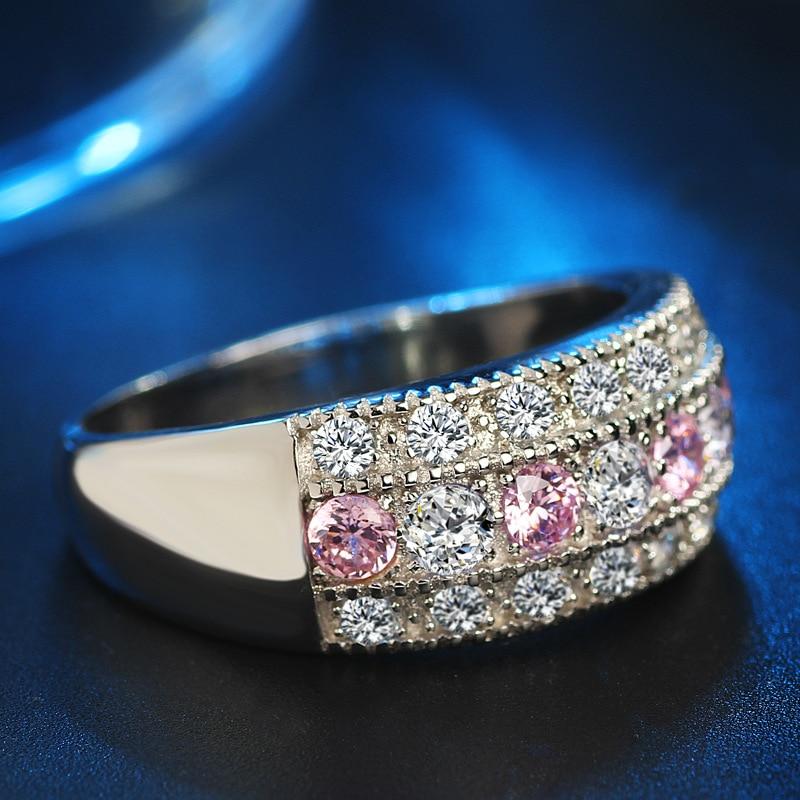2017 ÚJ anel feminin CZ kristály gyűrűk nőknek Esküvői 925 - Divatékszer - Fénykép 3