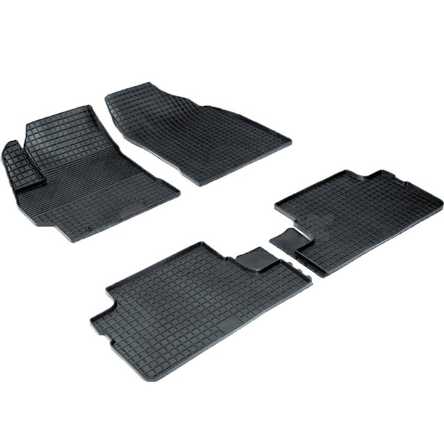 Резиновые коврики для Toyota Corolla E150 (2007-2013) с рисунком Сетка (Seintex 00393)
