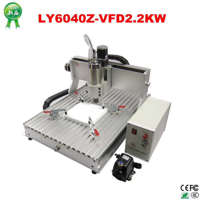 Hottest CNC router 6040 Z-VFD 2200w water coolde cnc machine 3 axis cnc milling machine big working size cnc router 6040 z vfd 2 2kw usb 4axis cnc milling machine with water tank for wood metal