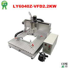 Hottest CNC router 6040 Z VFD 2200w water coolde cnc machine 3 axis cnc milling machine