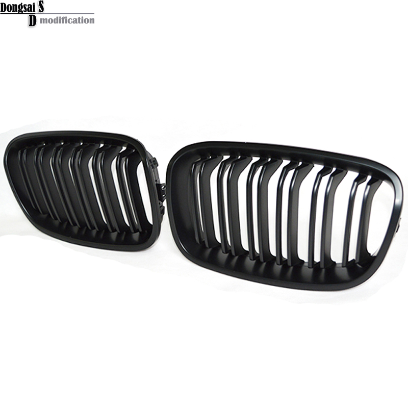 Replacement style Matte black dual slat front bumper ABS grille for BMW 1 series F20 F21 pre-lci 2012 - 2014 116i 118i 120i 135i e60 front grille for bmw 5 series e39 e60 abs m performance style front bumper grille