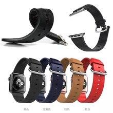 Для Apple , часы 38 мм 42 мм носо группа из натуральной кожи классической застежкой ремень замена для Apple , часы спорт издание