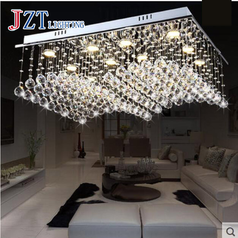 Chandeliers Modern Crystal Light Circular With Led Chips Romantic Sweet Luxury Simple Living Room Fashion Lamps Glass Chandelier Modern