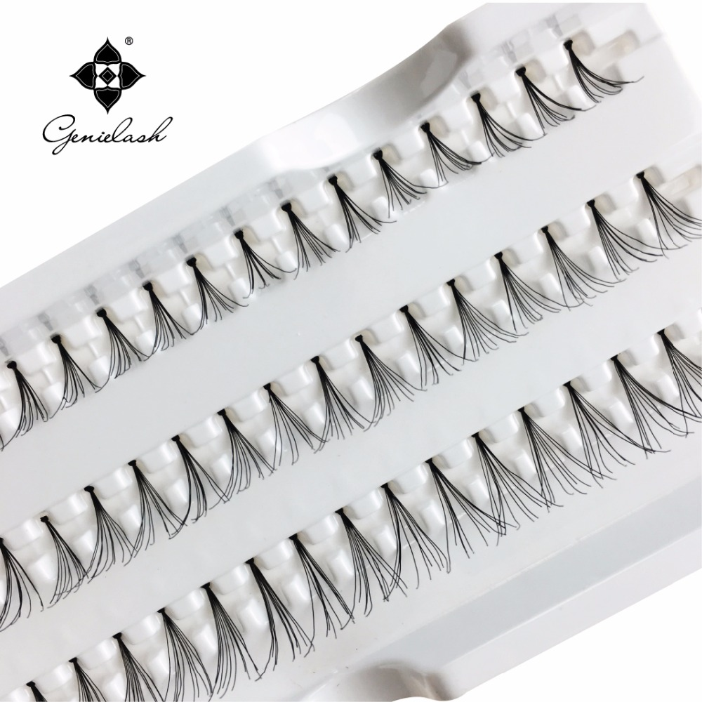03047f920bb All Length 4 Trays/lot Individual Flare False Eyelash Extensiosn With Knot  Best price Make Up Tools