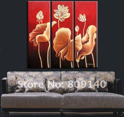 Flower Oil Painting Art Huge Decoration Modern Classic High Quality Hand Painted Home Office Hotel Wall