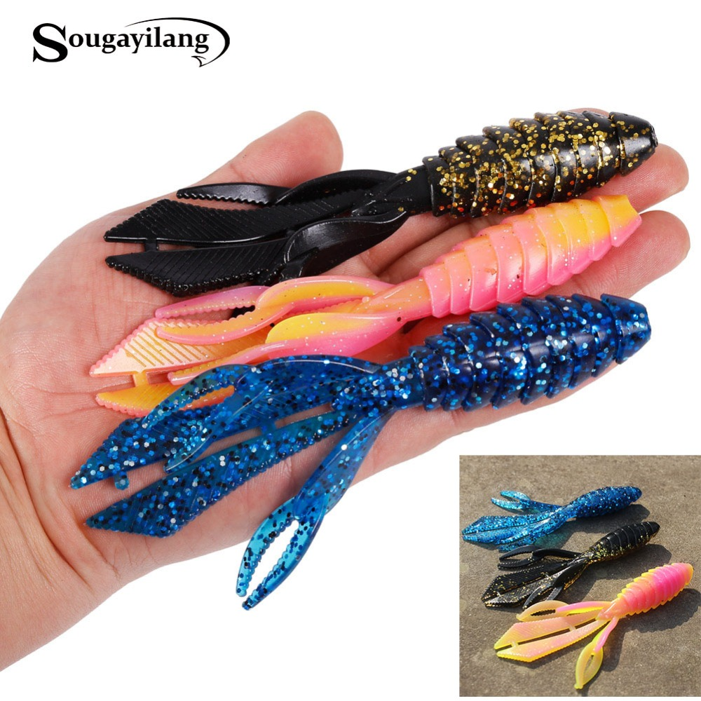 Sougayilang 6pcs/lot Super Big Soft Fishing Worm Lures 14g/pcs Rubber Fishing Lure Wobblers Fake Bait Carp Winter Fishing Lures 1pcs 12cm 14g big wobbler fishing lures sea trolling minnow artificial bait carp peche crankbait pesca jerkbait ye 37