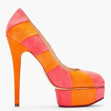 2015 New Striped Colorful Women Pumps Thin High Heels Platform Round Toe Slip-on Summer Style Real Images Ladies Shoes