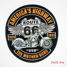 Punk Rock Patch Large Embroidery Biker Patches Motorcycle Iron On Patches For Clothes Jeans Vest Jacket Back Patch(China)