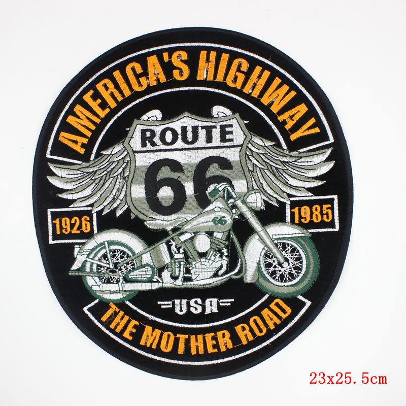 Online Shop Punk Rock Patch Large Embroidery Biker Patches Motorcycle Iron On For Clothes Jeans Vest Jacket Back