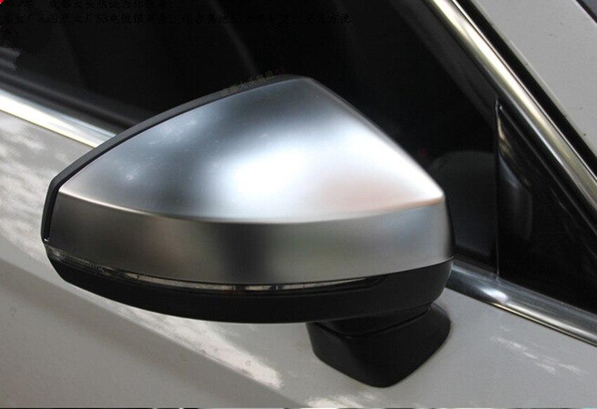 For Audi A3 S3 8V matt Silver chrome aluminum Satin finish mirror case rear view