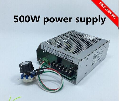 220 v alimentation avec régulateur de vitesse pour 500 w dc 0-110 v cnc refroidi par air moteur de broche