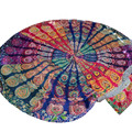 Round Beach Towel Serviette de plage Ronde Beach Throw Round Mandala Towel Yoga Mat Bohemian Outdoor Picnic Blanket Beach Towel