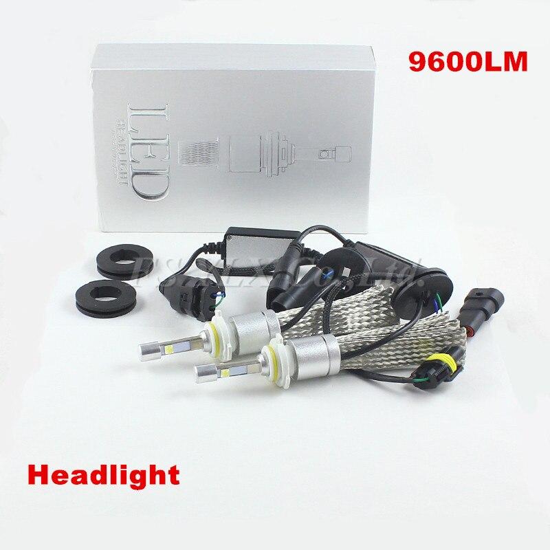 ФОТО auto headlight 80w 9600lm 9006 HB4 Xenon White Car LED Headlight Conversion Kit fog lights lamps 12v 9006 hb4 led fog light