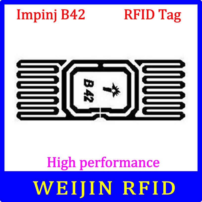 Impinj B42 dry inlay UHF RFID 915M EPC Monza4 can be used to RFID tag and label