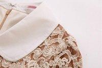 бесплатная доставка высокое качество Hits продажи основной тонкий кружево рукав три cheer одетый Splash цвет Seal тонкие бедра - cel платье