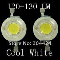 100 шт./Лот 1 Вт 120 ~ 130 лм 1 вт белый с высокой мощностью из светодиодов лампа бусины