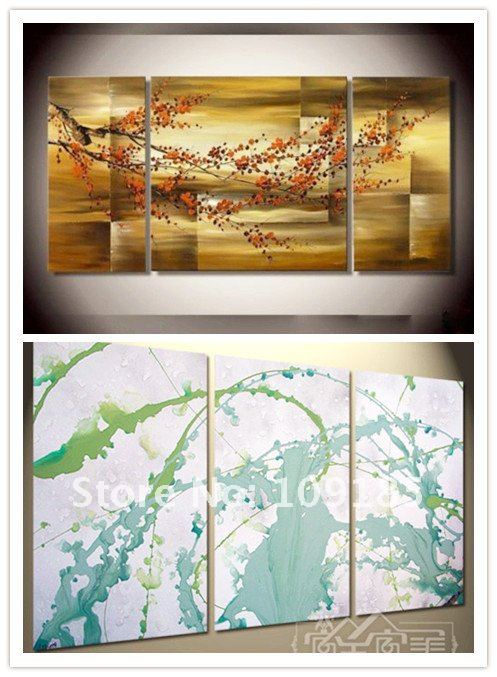 Free Shipping Handmade Abstract Group Oil Painting