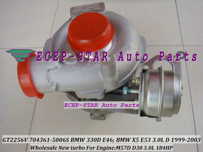 GT2256V 704361-5006S TURBINE Turbo Fit For bmw 330D E46 X5 3.0D E53,EngineM57D D30 3.0L 184HP 1999-2003 Turbocharger (6)