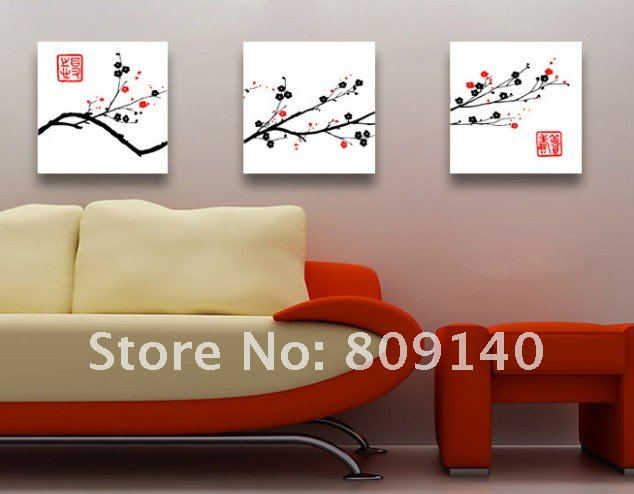 Free Shipping Painting Flower Chinese Culture Oil Painting On Canvas High  Quality Home Decor Office Hotel