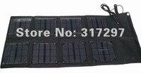 бесплатная доставка! 1шт/лот 24 Вт СД солнечный ноутбук зарядное устройство с высоким действенным 24вт cone панели