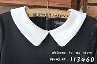 осень и зима женская милый питер пэн воротник основные рубашка топ лето женская рубашка бесплатная доставка