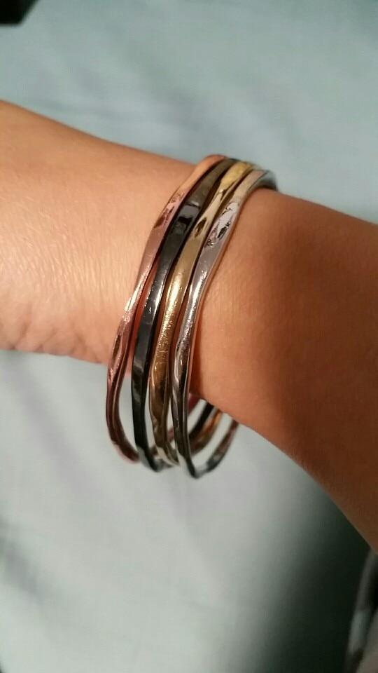 Набор металлических браслетов с Алиэкспресс