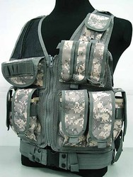 ACU Shotgun/ Rifle Vest Tactical Summer Vest with gun magazine pouches