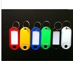 Лот из 400 пластиковых идентификационных этикеток для ключей с кольцом для ключей сплит-Кольца