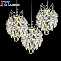 M Best Price Modern Pendant Chandelier 90 26V LED Crystal Chandeliers Three Head Disc Tray And