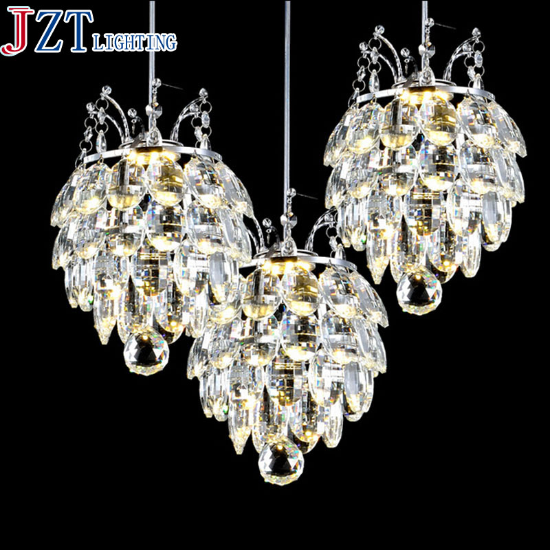M Best Price Modern Pendant Chandelier 90 26V LED Crystal Chandeliers Three Head Disc Tray and Rectangular Plate Optional|modern pendant chandelier|pendant chandelier|modern pendant - title=