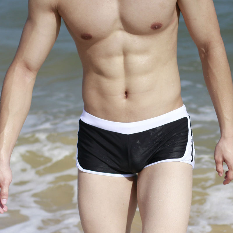 new arrivals man swimwear low waist boxer sport brand Mens swimming trunks Sexy Shorts Boxers Sports suit Men Swimsuit