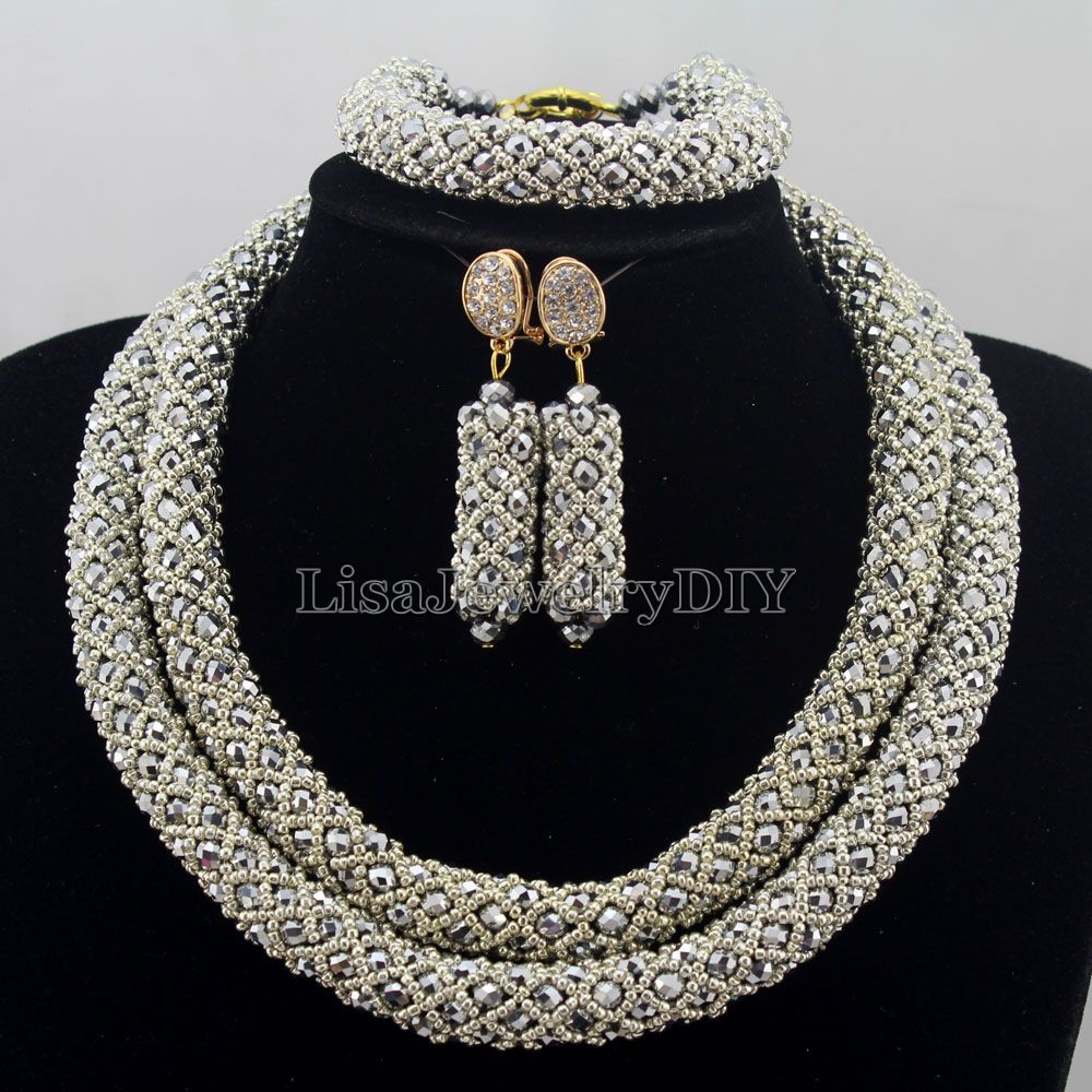 Exclusive Statement Necklace African Beads Jewelry Sets Handmade Wedding Jewelry Set Womens Jewellery Set HD7409Exclusive Statement Necklace African Beads Jewelry Sets Handmade Wedding Jewelry Set Womens Jewellery Set HD7409