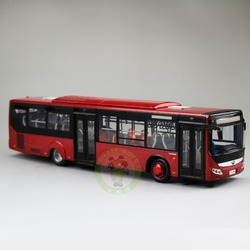 1/42 Scale Bus Model China YuTong City Bus ZK6128HGK Diecast Model Car Bus Toys