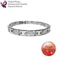 qirun бесплатная доставка из нержавеющей стали магнитный браслет любовь браслет бесплатная доставка ОСБ-142s 7.75