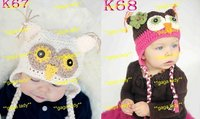 10 шт. / много дизайн 100% хлопок дети вязка крючком шляпу-хвостовик шляпа, трикотаж laden месте, детские ручной работы Cap - 1