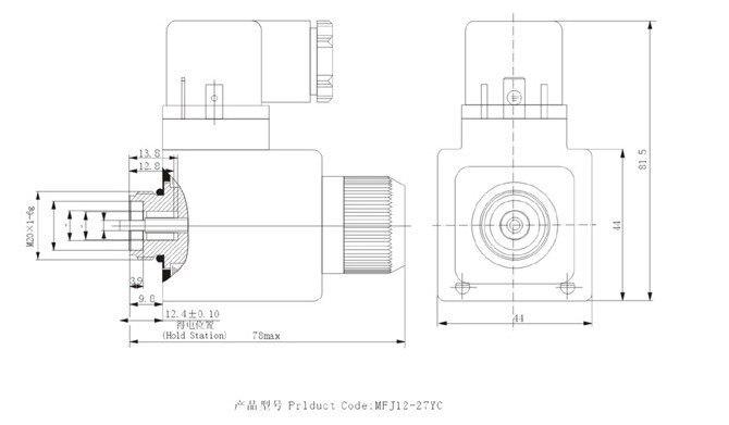 AC220V мокрого клапан электромагнитный MFJ12-54YC