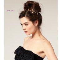 минимальный. заказ составляет 25 $ британский стиль романтический оливковых листьев резинка для волос ювелирных изделий, колье, пять - лист или два - лист